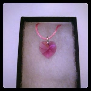 Jewelry - Velvet Rose Crystal Heart Necklace